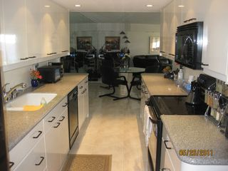 Deerfield Beach condo photo - View of Kitchen, Dining Area and Office Desk Beyond