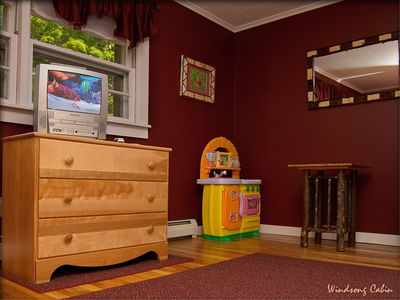 Lake Placid house rental - Bear Cubs Den ~ Play Room