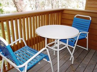 Kingston Plantation condo photo - Deck makes for a relaxing outdoor brunch!