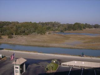 Overlook Marsh and Dunes Golf Course, view from balancy of condo