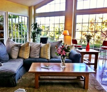 Newport Beach house rental - Spacious Great Room, with vaulted ceilings. Spectacular views of the golf course