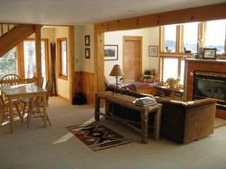 Saranac Lake house photo - Living Room surrounded by views of the Lake