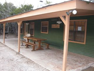 Concan cabin photo - Large covered porch