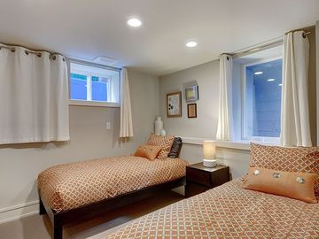 Two Twin Beds on Lower Level Bedroom