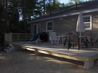 Fryeburg house photo - Back Deck