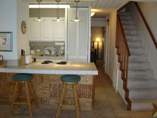 Maalaea condo photo - Kitchen & Breakfast Bar With View To Ocean