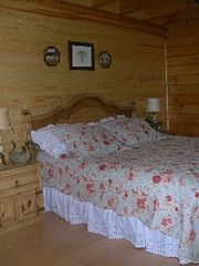 Jamestown cabin photo - Comfy king-size bed in the master bedroom