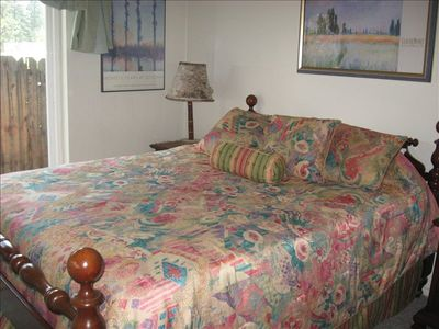 Heavenly Valley condo rental - Master bedroom. Bedding has been updated...