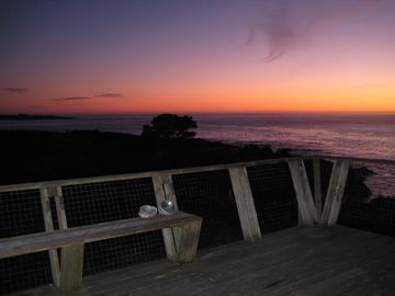 Mendocino house rental - Sunset off deck