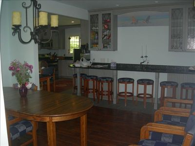 Breakfast bar, dinning room just off kitchen area.