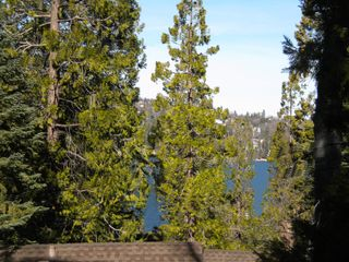 Lake Arrowhead house photo - Our peek of the lake from front deck