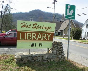 Hot Springs Library. Town History, books, movies and free Wi-Fi a 5 min walk