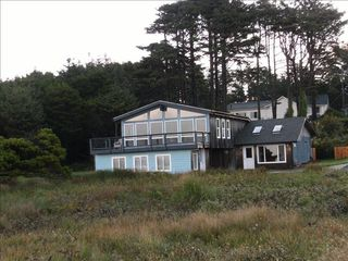 Yachats house photo - View of SecondWind from the beach, about 50 feet