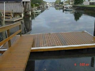 St. Augustine Beach house photo - Bring your boat....10x20Floating dock in your back yard