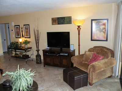 Living area with 42inch LCD TV with BluRay DVD player