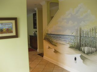 Belmont Towers Ocean City townhome photo - Street entry foyer to main living area