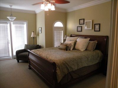Master suite, reading area, desk, walk-in closet, double dresser, balcony