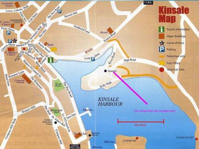 Kinsale cottage rental - Location Map
