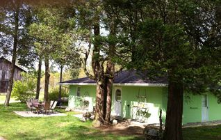 South Haven cottage photo - And another corner (beautiful red cedar trees around).