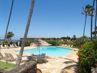 Poipu condo photo - Gorgeous large pool with BBQ area