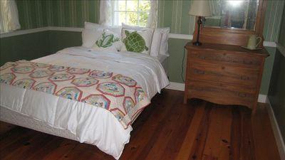 Mahone Bay house rental - Green bedroom, one of two masters on the main floor