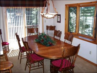 Agate Bay townhome photo - Dining Room Table with Deck Views