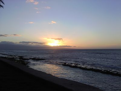 The sunset at Paki Maui