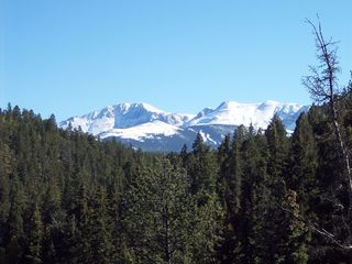 Woodland Park house photo - View of Pikes Peak from Deck