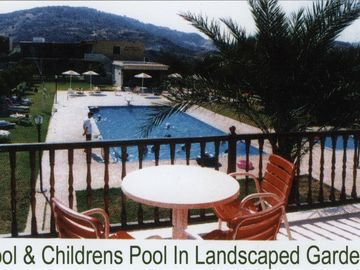 Pool in landscaped grounds