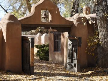 Entrance to the Mabel Dodge Luhan House is Right Next Door