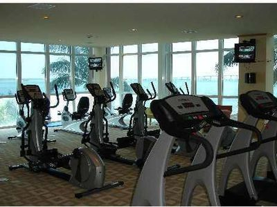 Gym overlooking the bay