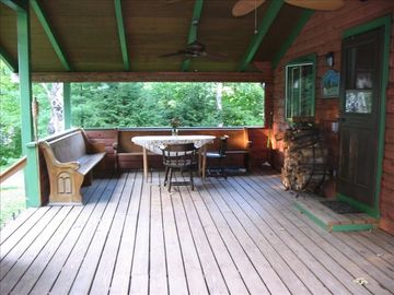 Huge Front Porch with Side Deck