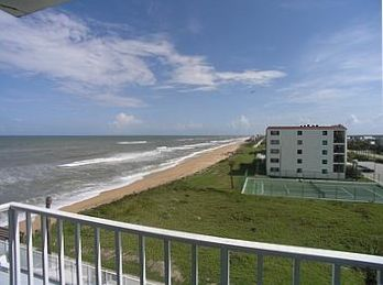 New Smyrna Beach condo rental - Southeast View from Corner Balcony