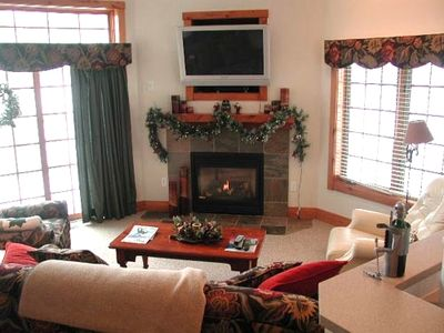 Family Room with TV and Fireplace - (TV Has Changed)