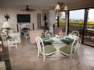 Wailea condo photo - Living room and Dining in or out on the Lanai