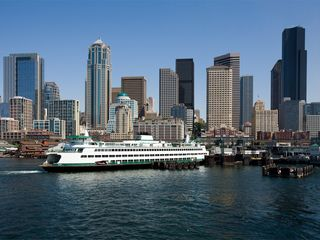 Bremerton apartment photo - Washington State Ferry leaving downtown Seattle for Bremerton