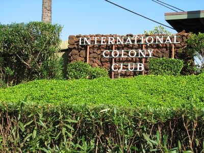 Kaanapali cottage rental - Welcome to International Colony Club!