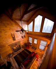 "Stanardsville cabin photo - Large living room windows bring the outdoors ""in."" Great for watching the snow!"