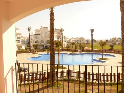 Hacienda Riquelme Golf Resort apartment rental - view from balcony