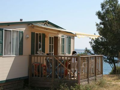 Mobile home in area of protected countryside, situated directly on the sea
