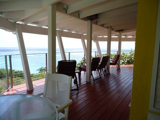 St. Croix house photo - Gallery with Sea View