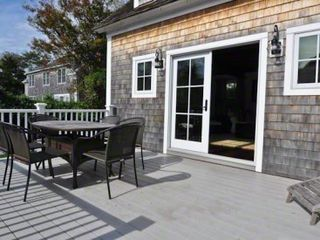 Edgartown house photo - Deck Nicely Expands Dining & Entertaining Space With Backyard View