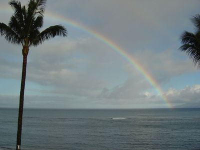 Waking up to a Beautiful Rainbow from the balcony