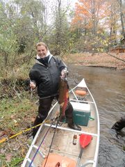 Crystal Mountain, Thompsonville cottage photo - Coho Salmon caught in October