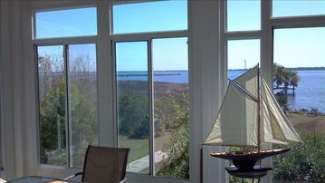 Lillian house rental - Beautiful bay breezes flowing on a candlelit moonlit evening. Panoramic view.