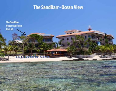 Ocean View of The SandBarr.  Located in the the building to the left