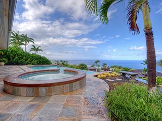 Kailua Kona house photo - Unwind in the hot tub and soak in the view.
