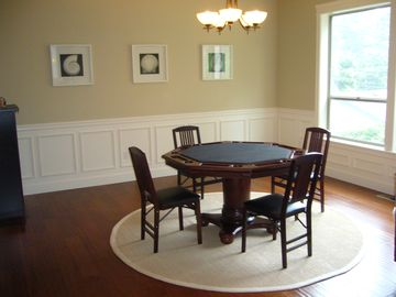 Dining Room with Dining/Game table. Right off of the Kitchen and Living Room.