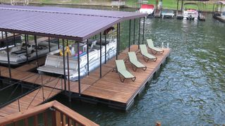 Hot Springs house photo - The Boat Dock and Swim Dock #1. Perfect for soaking up the sun!