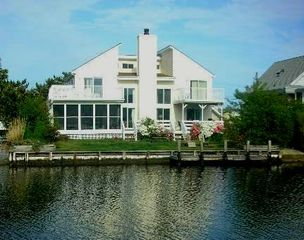 South Bethany Beach house photo - Great Canal-front Home with Multiple Decks & Porches, Dock, Boat Ramp